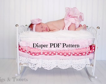 Sweet Pink Ruffle Diaper Cover PATTERN ONLY