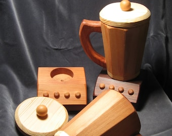Toy All Wood Blender Just Right Size