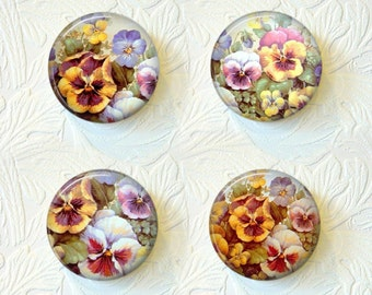 Magnet Set  Pansies Buy 3 Get 1 Free 031M