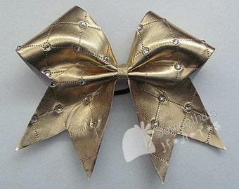 Glamorous Gold Cheer Bow