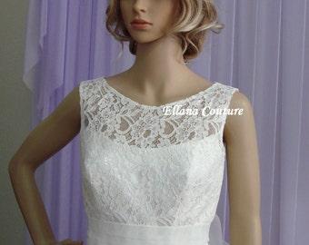 Plus Size. Holly - Elegant Retro Inspired Tea Length Wedding Dress.