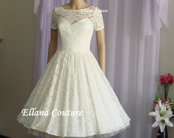 Eve - Vintage Style Lace Wedding Dress.