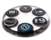Miscellaneous Beer Bottle Cap Resin Coaster - All Black Caps
