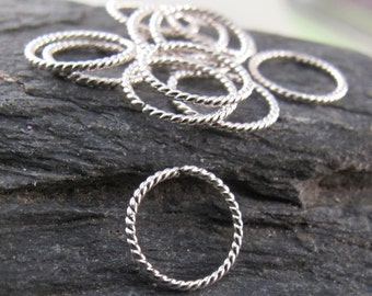 10mm HELIX cartilage ring 925 sterling silver hoop. earring. piercing. septum. brow. endless. catchless. small sleeper 20g wire No.00E278