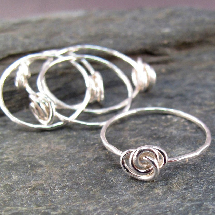 sterling silver knot ring promise by