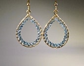 London Blue Topaz 14 Karat Gold Filled Hoops