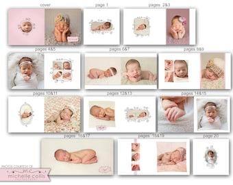 10x10 Baby Album template - Olivia 0720 FA