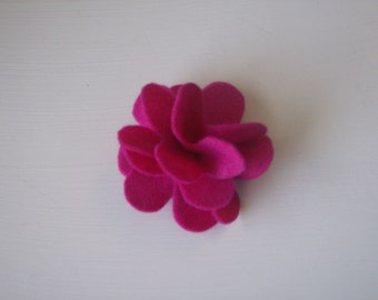 Fluffy layered large flower hair alligator clip, red, pink, blue, yellow, gray, black, white, green, purple, brown