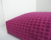 DOG BED COVER   Soft Fushia Squares Upholstery 21x29