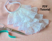 Tutorial How to Make a Victorian Jabot  - Victorian lace jabot - pdf tutorial