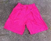 SALE 90 High Waist Pink Polka Dot Shorts 12