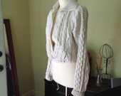 1970s cabled cardigan small. SALE