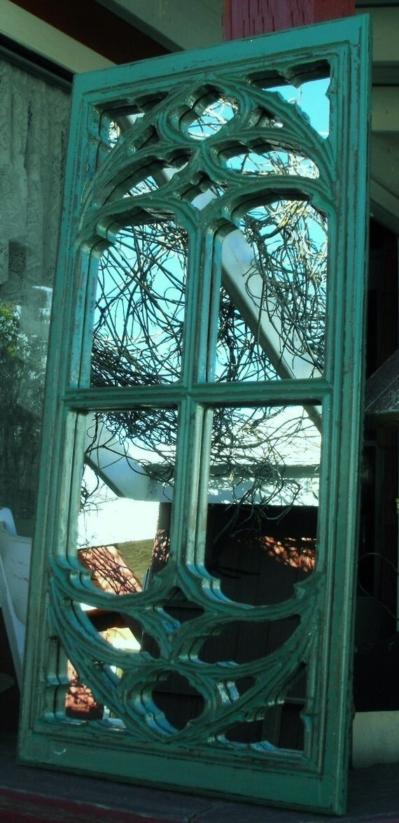 Window frame mirror teal in color for Teal framed mirror