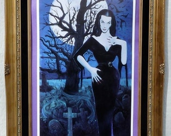 Original Gothic Glamour Ghoul by Moon Light Vampira Print