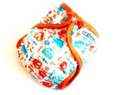 Guppy Ooga One Size PUL Printed Pocket Diaper with Organic Bamboo Velour Inner