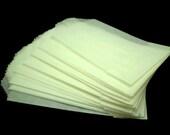 CLEARANCE - Mini Flat Glassine Bags, Size 2 X 3.5 inches - Plain - Qty 40 count