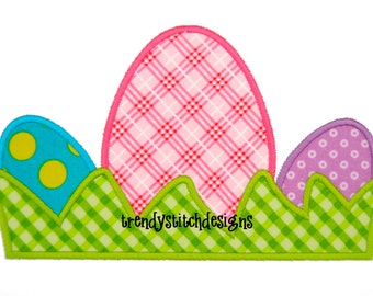 Eggs In Grass Machine Embroidery Design INSTANT DOWNLOAD