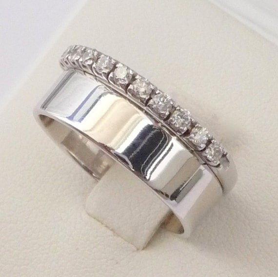 wedding rings set engagement eternity ring by