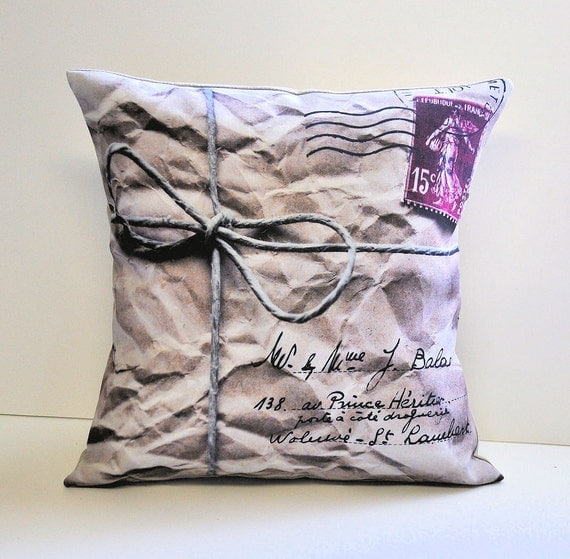 Mail Parcel pillow cover - 14x14