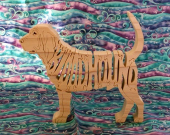 Bloodhound Handmade Wooden Puzzle