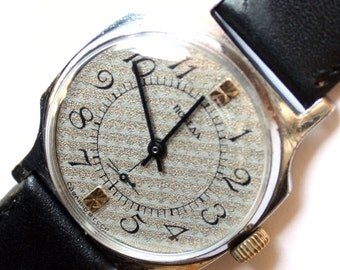 Wrist watch mens watch Pobeda grey watch men watch