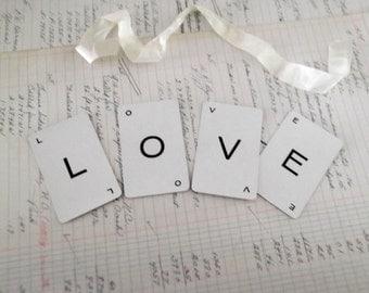 LOVE Banner Wedding Letter Decoration Love Garland Wedding Sign Chair Banner