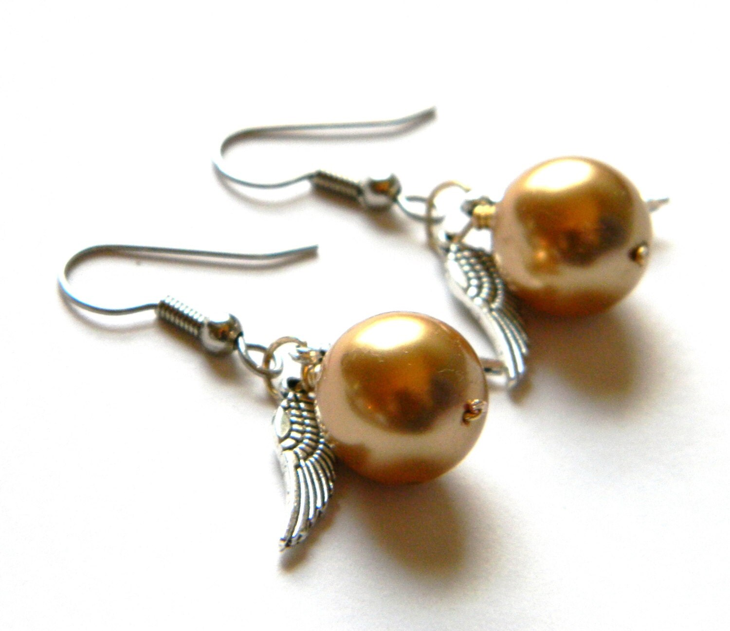 golden snitch earrings golden snitch earrings harry potter jewelry by sammysbeadworks 9515
