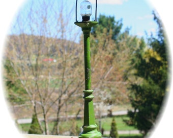 Antique Victorian Green Railroad Lamp Light Post Pole LIONEL number 56 or Steampunk Finding