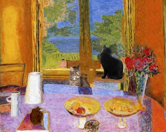Pierre Bonnard, Cat Art, Cat Lover Gift, Housewarming Gift, Cat Lovers, Cat Art Prints, Cat Decor, Deborah Julian