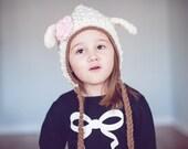 Crochet PATTERN - Lamb Pixie Hat - Instant download