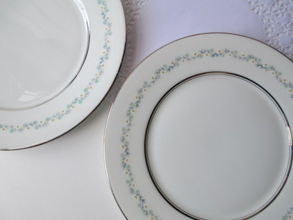Vintage Oxford Lenox Holyoke Bone China Salad Plates Set of Two