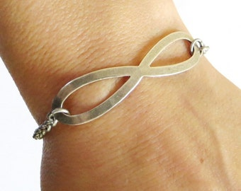 Infinity Bracelet- Sterling Silver Finish