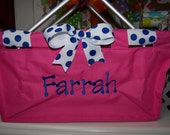 Personalized Easter basket Market tote hot pink