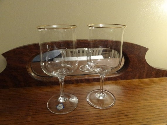 Vintage 1970 39 s 1980 39 s lenox crystal intrigue - Lenox gold rimmed wine glasses ...