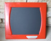 Apple Red KitchenChalkboard - Kids Room Chalkboard - Message Board - Bright Red - Repurposed - Mud Room Chalkboard