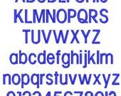 Block Embroidery Machine Monogram  Alphabet  Font Set 10667