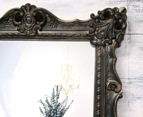 Any color large white framed baroque mirror by revivedvintage for Large black framed mirror