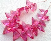 Brand New, 100 Cts, NEW PINK QUARTZ Faceted Fancy Briolettes,12-17mm Long,Superb Item at Low Price