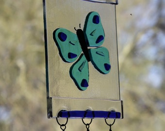 Butterfly Suncatcher or Windchime in Fused Glass