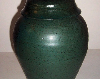Cremation Urn Earthy Green for In Home Location