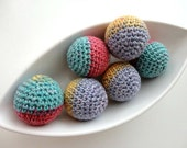Big Ball Colourful Baloons Crochet 6 Pcs (Without Holes)