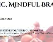 Artistic, Mindful Branding - worksheet for artists: branding for art businesses