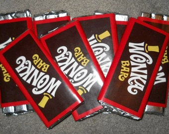 Generic Wonka Bar Labels