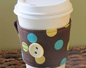 Brown Dots Coffee Sleeve Cup Cozy