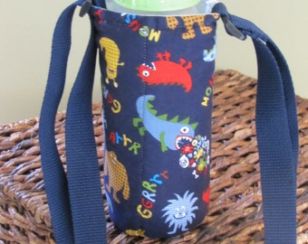 Monster Insulated Water Bottle Holder with Adjustable Strap
