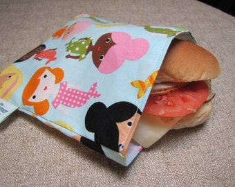 Reusable Sandwich Bag - Girl Friend Surf