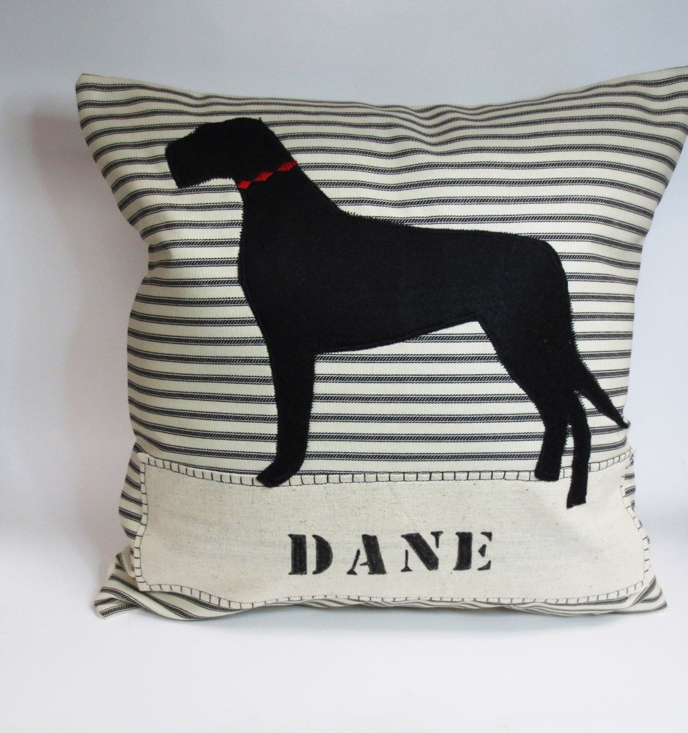 Decorative Pillows Dog : Great Dane Felt Pillow Decorative Great Dane Dog Felt
