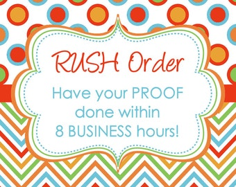 RUSH MY ORDER for any ready made digital invitation design in my shop