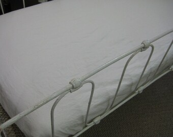 Washed Linen Fitted Crib Sheet