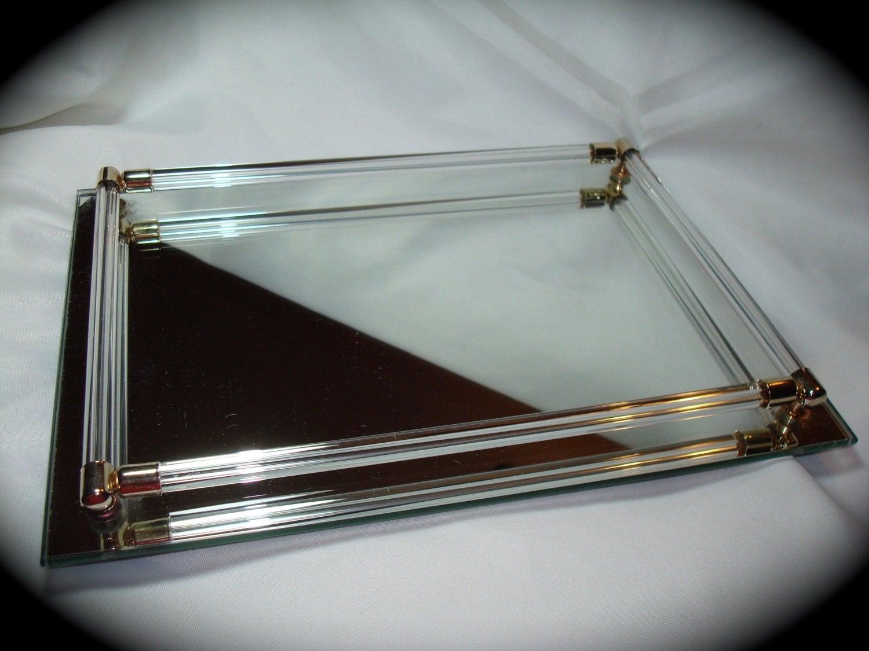 Vintage Mirrored Dresser Vanity Tray